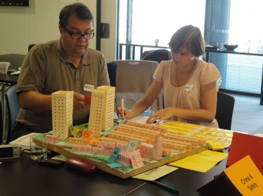Leonardo partners at Planning for Real training workshop