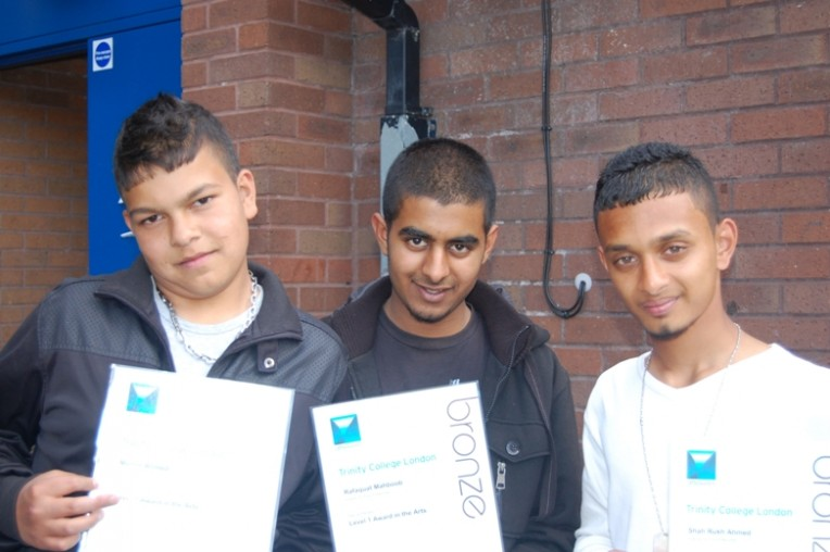 Young people from Lozells Recreation Group