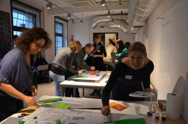 Model making at PFR workshop in Poland