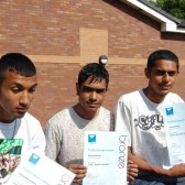 Young people from Lozells Recreation Group receive certificates