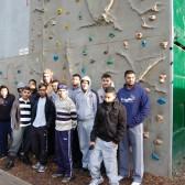 Lozells Recreation Group visit climbing wall